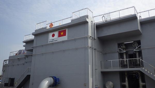 アンズオン浄水場に完成したU-BCF施設