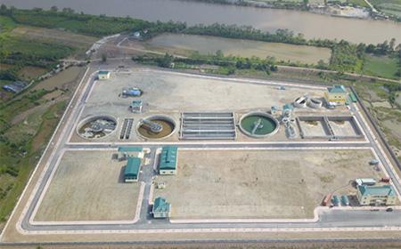 整備が進むビンニエン下水処理場
