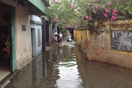 市街地の浸水状況