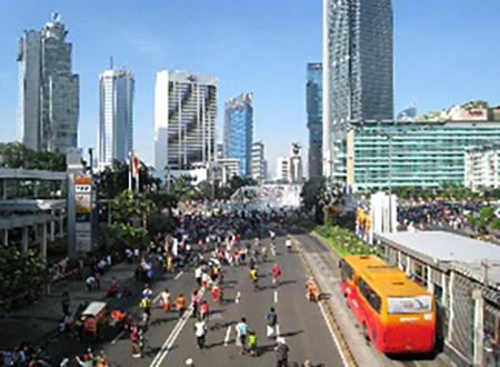 インドネシアの街並み