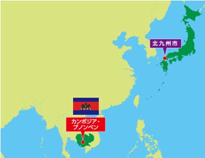 カンボジア位置図