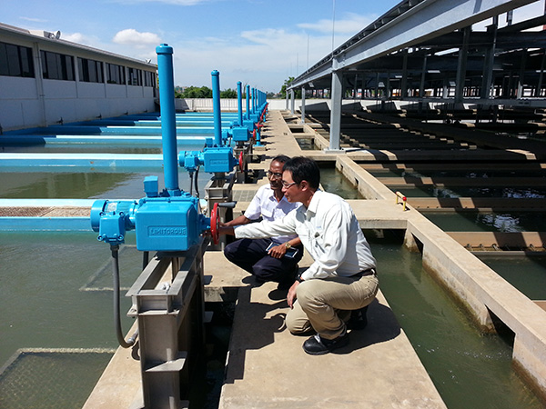 浄水場施設(バルブ)の更新計画について確認