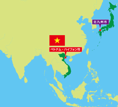 ベトナム位置図