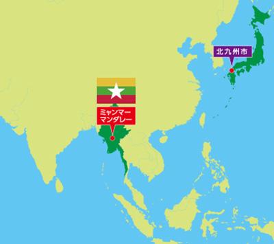 ミャンマー位置図