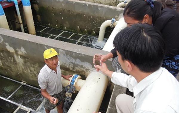 急速ろ過方式の浄水場
