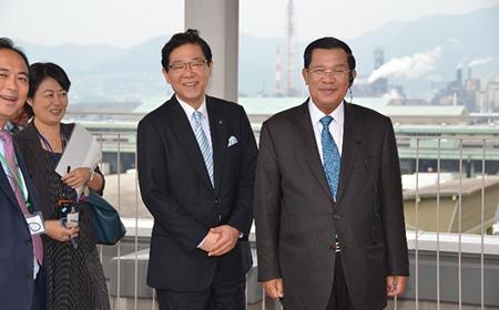 2015年 カンボジア・フン・セン首相 北九州市訪問