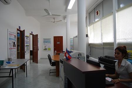 プノンペン事務所・内部