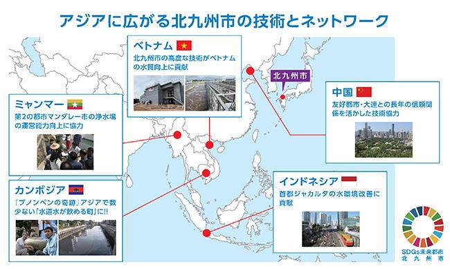 アジアに広がる北九州市の技術とネットワーク