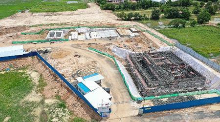 建設工事が進む新設浄水場(2020年8月)